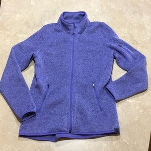 L.L. Bean Sweater Fleece Jacket Lilac Small purple